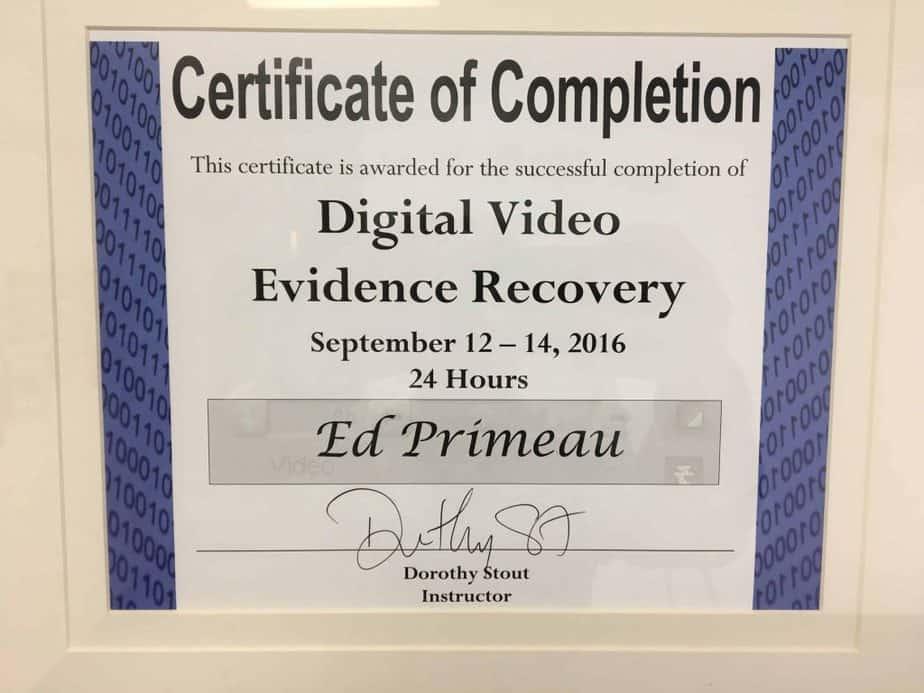 Digital-Video-Evidence-Recovery-Edward-Primeau-1024x768 Meet Edward Primeau, CCI, CFC