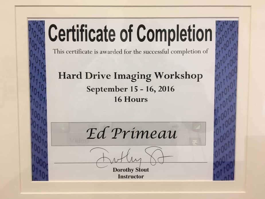 Hard-Drive-Imaging-Workshop-Edward-Primeau-1024x768 Meet Edward Primeau, CCI, CFC